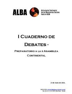 I Cuaderno de Debates -