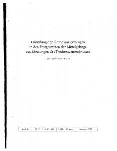 I Geol. ]b. I C 3 S I 40 Abb. 111 Tab. I Hannover 1972