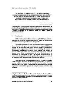 I. Introducción. Ana María Morales Peillard * REJ Revista de Estudios de la Justicia Nº 7 Año 2006