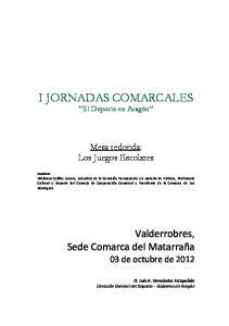 I JORNADAS COMARCALES