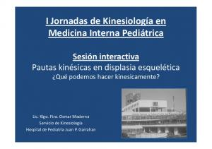 I Jornadas de Kinesiología en Medicina Interna Pediátrica