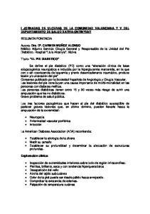I JORNADAS DE ULCERAS DE LA COMUNIDAD VALENCIANA Y V DEL DEPARTAMENTO DE SALUD XATIVA-ONTINYENT