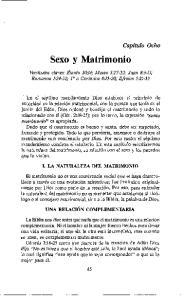 I. LA NATURALEZA DEL MATRIMONIO