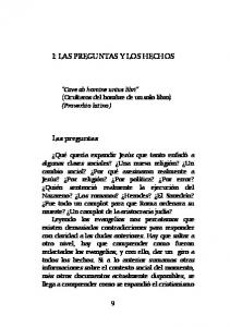 I: LAS PREGUNTAS Y LOS HECHOS
