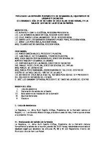 I.- Lista de Asistencia