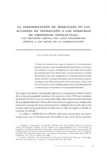 i. los derechos de propiedad intelectual