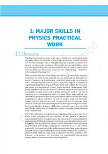 I: : MAJOR SKILLS IN PHYSICS PRACTICAL WORK NCERT