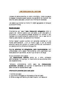 I. METODOLOGIA DEL SISTEMA