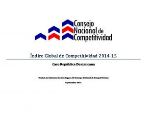 Í ndice Global de Competitividad