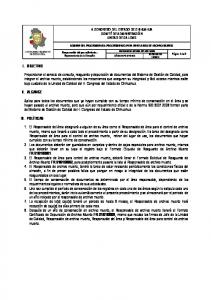 I. OBJETIVO II. ALCANCE