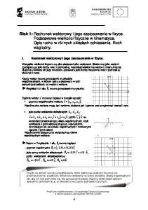 I. Rachunek wektorowy i jego zastosowanie w fizyce