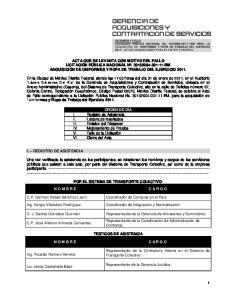 I. REGISTRO DE ASISTENCIA