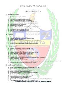 I. Registro de Conducta