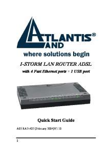 I-STORM LAN ROUTER ADSL