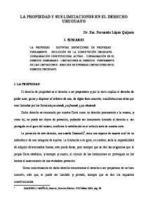 I- SUMARIO. El derecho de propiedad es el derecho a ser propietario y por lo tanto implica el derecho de