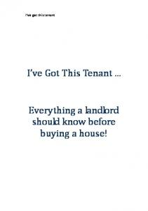 I ve Got This Tenant