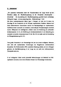 I.1 Pulmonale Probleme in der Neonatologie