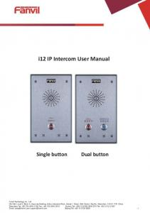 i12 IP Intercom User Manual