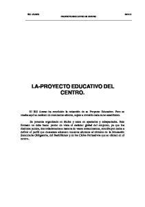 I.A-PROYECTO EDUCATIVO DEL CENTRO