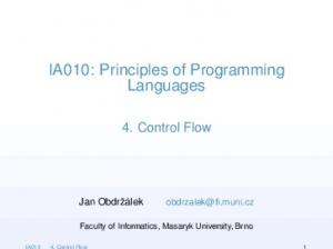 IA010: Principles of Programming Languages