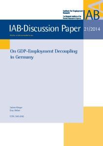 IAB Discussion Paper