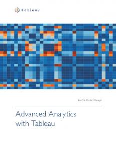 Ian Coe, Product Manager. Advanced Analytics with Tableau