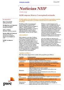 IASB expone Marco Conceptual revisado