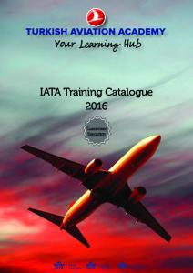 IATA Training Catalogue Guaranteed Execution