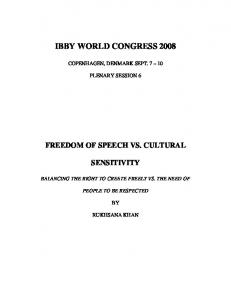IBBY WORLD CONGRESS 2008