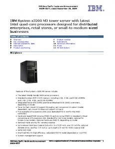 IBM Asia Pacific Hardware Announcement AG , dated September 22, 2009