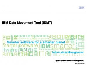 IBM Data Movement Tool (IDMT)
