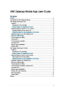 IBM Datacap Mobile App User Guide