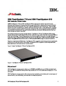 IBM FlashSystem 710 and IBM FlashSystem 810 IBM Redbooks Product Guide