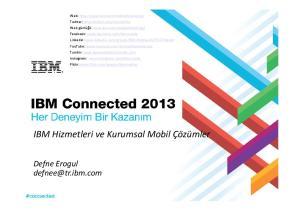 IBM Hizmetleri ve Kurumsal Mobil Çözümler