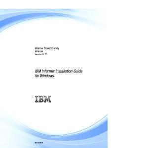 IBM Informix Installation Guide for Windows
