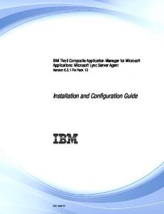 IBM. Installation and Configuration Guide