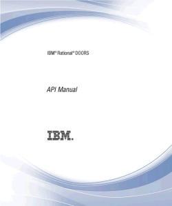 IBM Rational DOORS Rational DOORS API Manual Release 9.3