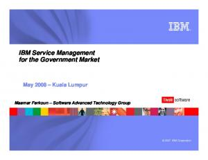 IBM Service Management for the Government Market