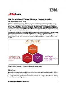 IBM SmartCloud Virtual Storage Center Solution IBM Redbooks Solution Guide