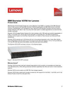 IBM Storwize V3700 for Lenovo Product Guide