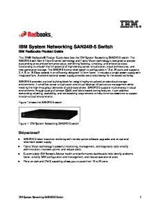 IBM System Networking SAN24B-5 Switch IBM Redbooks Product Guide