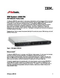 IBM System x3250 M4 IBM Redbooks Product Guide