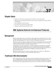 IBM Systems Network Architecture Protocols