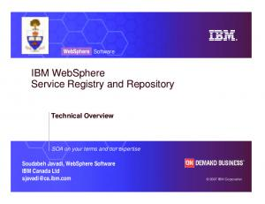 IBM WebSphere Service Registry and Repository