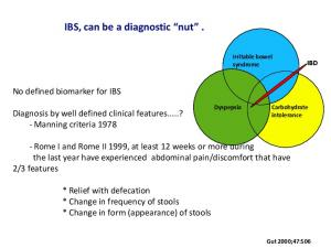 IBS, can be a diagnostic nut