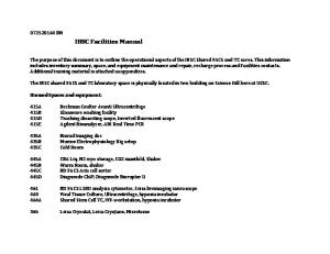 IBSC Facilities Manual