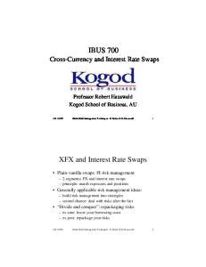IBUS 700. XFX and Interest Rate Swaps