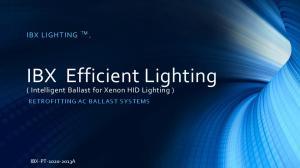 IBX Efficient Lighting
