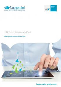 IBX Purchase-to-Pay. Making eprocurement work for you