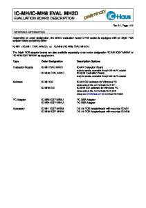 ic-mh8 EVAL MH2D EVALUATION BOARD DESCRIPTION